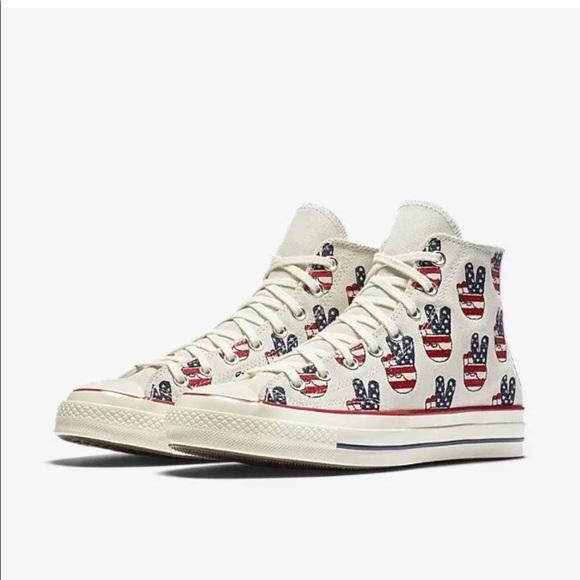38d5bb9e55a557 Converse Chuck Taylor Peace Hi Top Sneaker